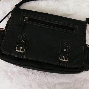 Aurielle Navy Blue Leather Bag w/Accessories NWOT